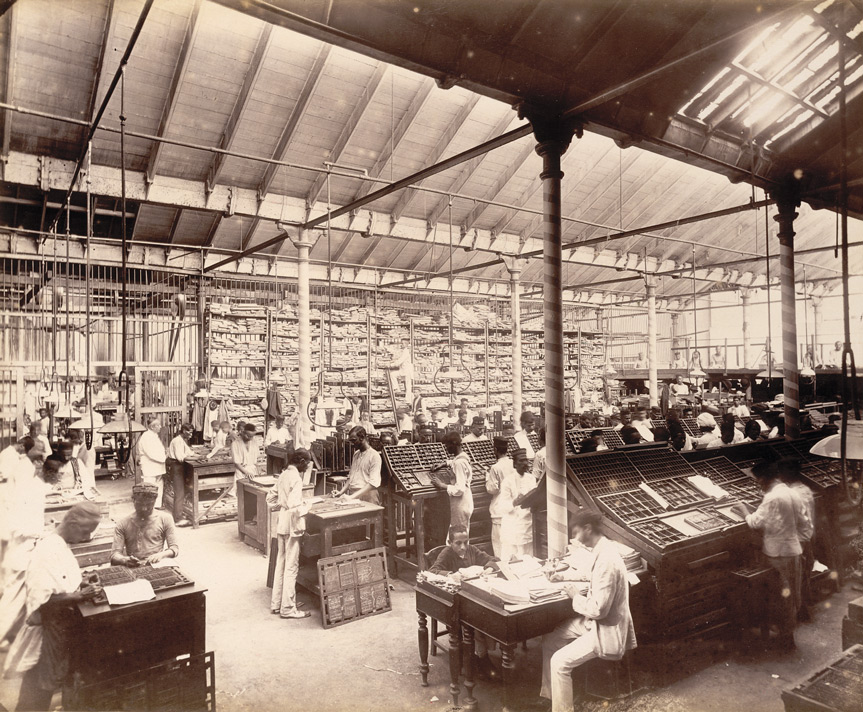 Jobbing composing room ['Times of India'], - November 1898.